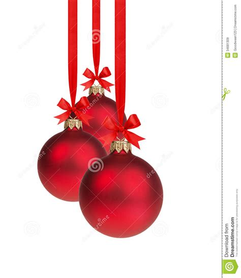 why do we hang ornaments on a christmas tree composition from three balls hanging on ribbon stock image image of balls