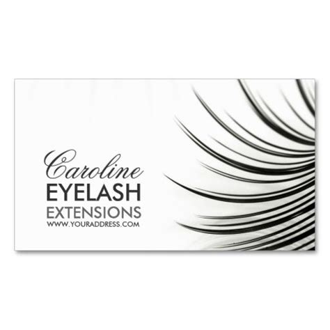 Eyelash Extension Business Card Template by Minimalistic Eyelash Extensions Business Card Eyelash