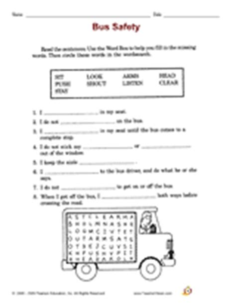 School Safety Worksheets by Safety School Safety Printable 2nd Grade