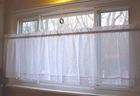 cafe length curtains vintage lace curtains cafe length prairie by