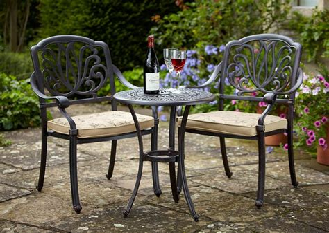 outdoor metal furniture hartman amalfi bistro set with garden world