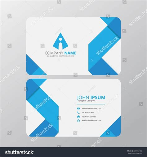 business card clean template design illustrator modern creative clean business card design stock vector