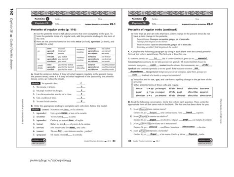 one capitulos capitulo 2b practice workbook answers 2b 8