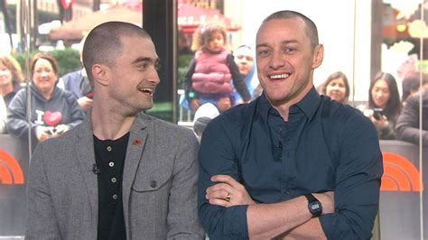 james mcavoy parents daniel radcliffe james mcavoy share dead giveaways on