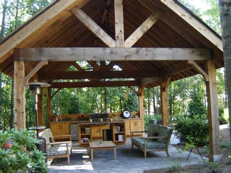 how to build a backyard pavilion 17 best images about outdoor patio shelter large beam on