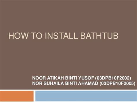 how to fit a bathtub s3 pair presentation how to install bath tub