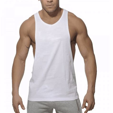 Tank Top All Size Coklat bleuziel 2017 cotton big size summer clothing tank tops black white singlets sleeveless fitness