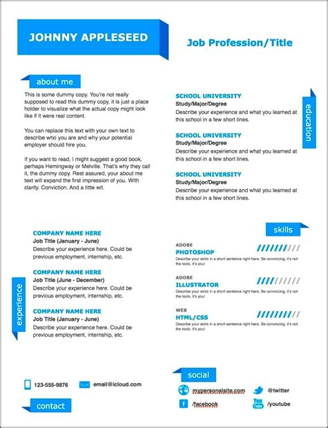 Free Modern Resume Templates by Modern Resume Templates Free Word Free Sles
