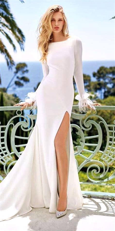 Wedding Dress With Slit by 163 Best Images About Wedding Gowns With High Leg Slits On