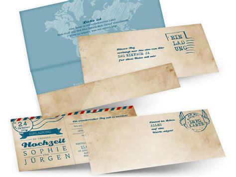 Hochzeitseinladung Reisen by Designideen F 252 R Hochzeitskarten Co Archives Einladen