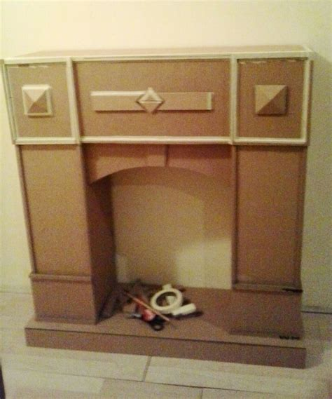 cardboard fireplace diy my cardboard furniture fireplace just for but