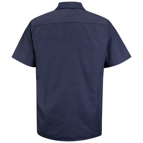 light blue short sleeve work shirts sp24nl navy with blue stripe twin durastripe short sleeve