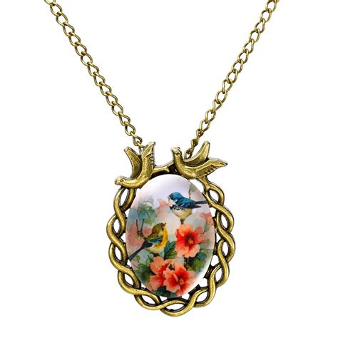 style jewelry summer style jewelry vintage antique bronze oval flower