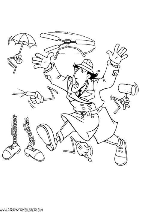 free coloring pages of inspector gadget