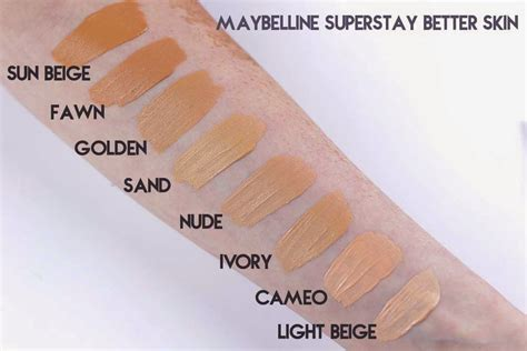 review maybelline superstay better skin foundation