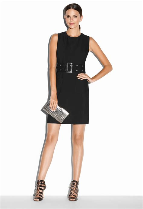 milly belted mini dress in black lyst