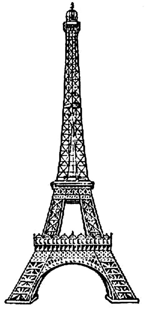 amazing eiffel tower coloring page  print