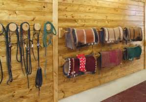 saddle pad racks barn beautiful