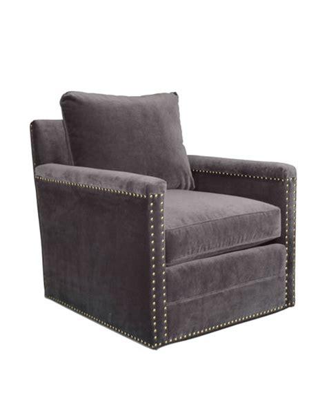 Avis St Clair Gray Velvet Swivel Chair Neiman Marcus Velvet Swivel Chair