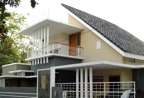trend model rumah  atap miring modern  rumah minimalis rumah minimalis