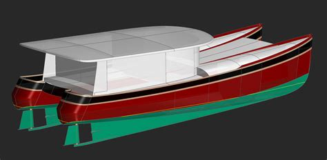 catamaran displacement hull speed 50 semi planing yacht wave cat