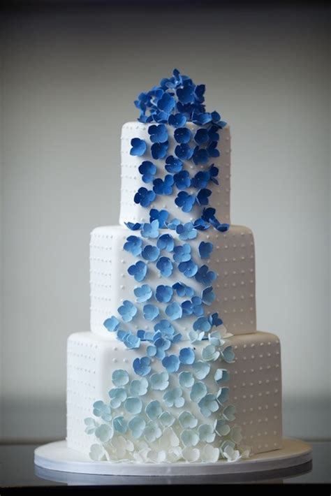 Wedding Cake Blue by Ombre Wedding Flowers