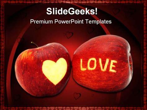 Love Apple Food Powerpoint Template 0810 Apple Powerpoint Template