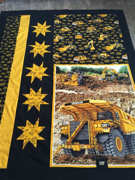 Landscape Fabric Tractor Supply Cat Heavy Equipment Fabric Quilt Top Quilts Quilts