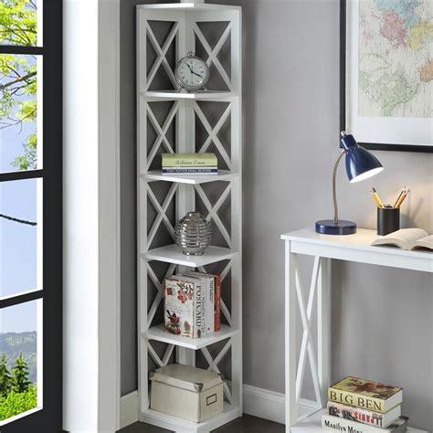 scranton   shelf corner bookcase  white walmart