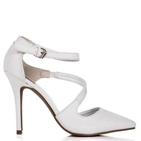 buy mercedes stiletto heel pointed toe court shoes white