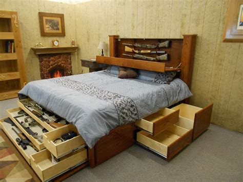 king size platform bed with storage and bookcase headboard
