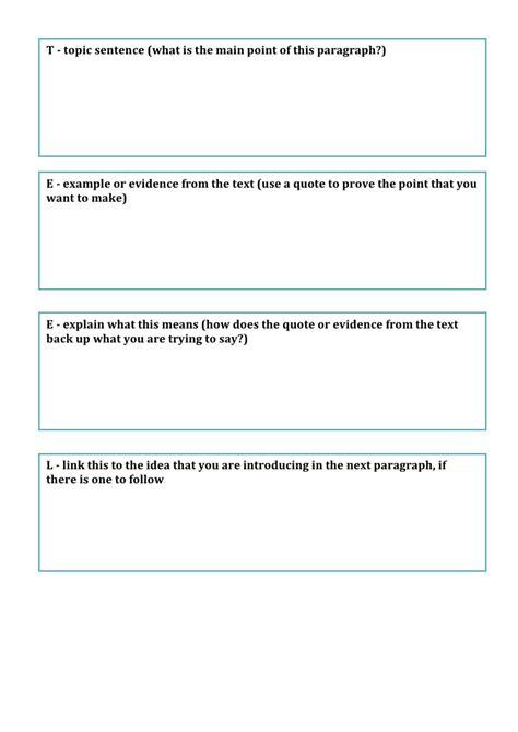 Teel Essay Writing by Teel Template