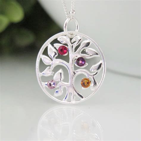tree of necklace family tree birthstone necklace