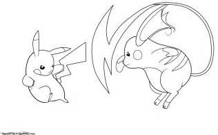 raichu coloring page pikachu vs raichu lineart by jamalc157 on deviantart