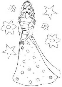 Barbie Doll The Princess Charm School Coloring Page  Sun sketch template