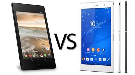 Tablet Sony Z3 sony xperia z3 tablet compact vs nexus 7 comparison review