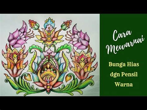 contoh gambar gambar mewarnai batik bunga kataucap