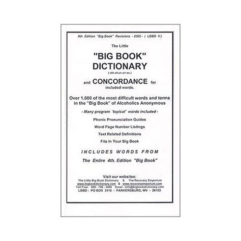 bid dictionary big book dictionary alcoholics anonymous cleveland