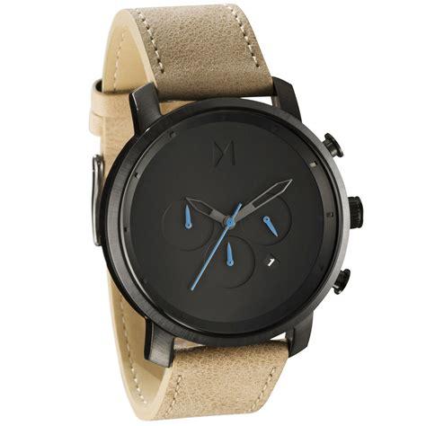 mvmt watches chrono gun metal sandstone leather s