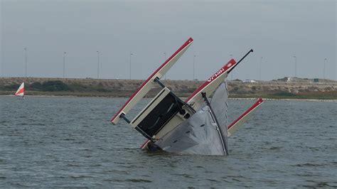 trimaran videos ninja spider trimaran capsize test sailing videos
