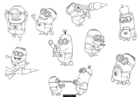 minion coloring page free minion coloring pages free large images