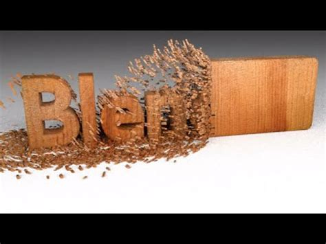 blender tutorial animation text blender tutorial wood chipping text animation youtube