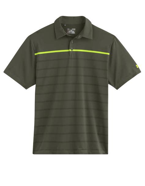 Polo Shirtkaos Polo Armour 1 armour gimme stripe polo shirt in green for lyst