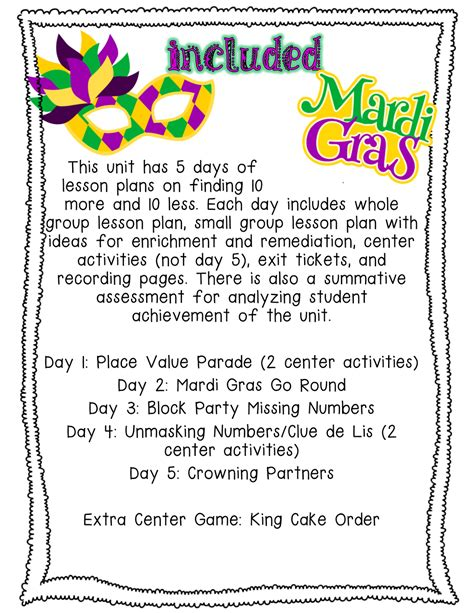 Mardi Gras Worksheets by Pride And Primary Mardi Gras Madness Math Mini