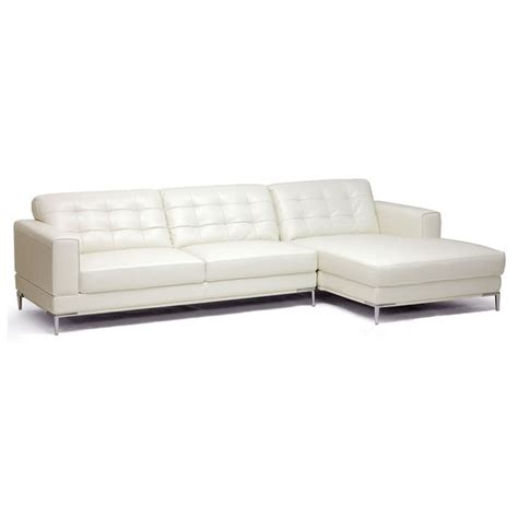 ivory leather sectional babbitt ivory leather modern sectional with chaise dcg