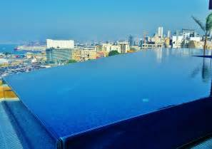 Pool Cabana Ideas rooftop infinity pool le gray hotel luxury hotel beirut