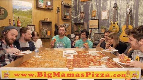 big mamas and papas pizza challenge rhett link the crew vs the big s papa s pizza