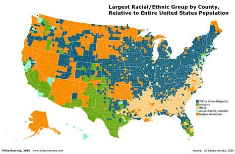 ethnic map usa philip kearney cartography
