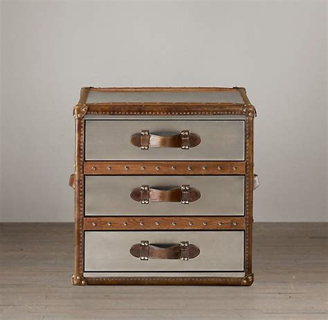Steamer Trunk Dresser by Use Leather Handles To Make A Dresser Look Like Stacked