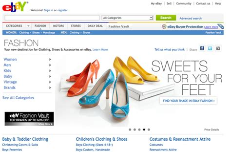 ebay online shopping uk ebay launches one stop shop for all things fashion
